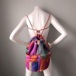 ❤HP❤️ Ralph Lauren Madras Plaid Crossbody Backpack